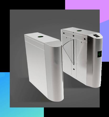 智能闸机展示图,支撑各种类型的闸机改造,翼闸,三辊闸,摆闸,玻璃门禁,支持扫码,指静脉,指纹和人脸
