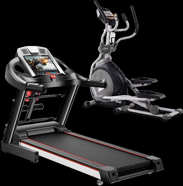 跑步机椭圆机展示图,支持有氧器械及力量器械的升级改造及换新